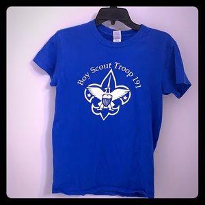 🔴10/$25 Boy Scout Blue Tee S